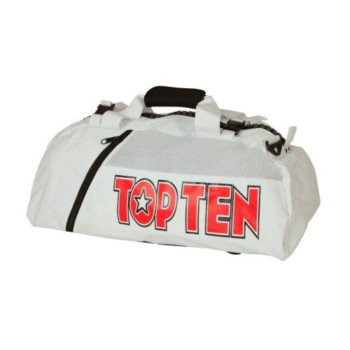 "Backpack-Sportsbag-Dufflebag combination ""ITF"" - 55 cm x 29 cm x 27 cm, white"