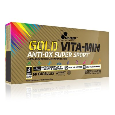 Olimp, Gold VITA-MIN ANTI-OX Super Sport™ Mega Caps®, 60 kapszula