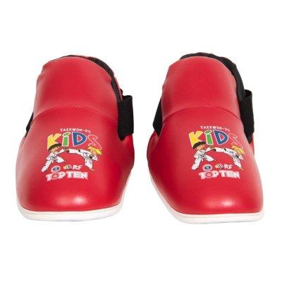 Lábfejvédő, Top Ten, Kids ITF, tépőzáras, Piros szín