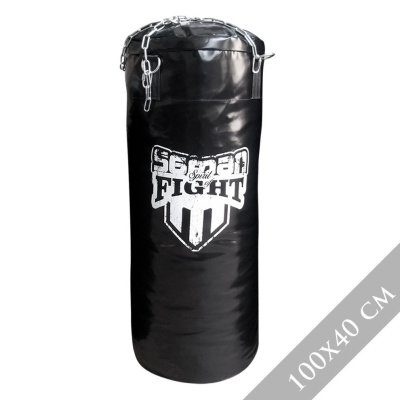 Punching bag, up to 100 cm, Saman Spirit of Fight, PU, with chain, 100x40 cm size