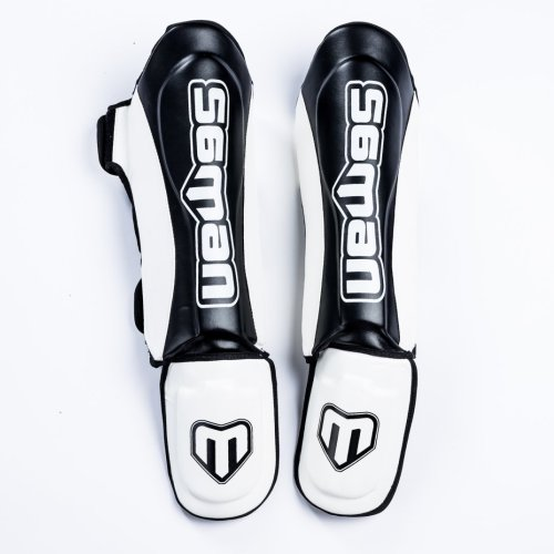 Thai lábszárvédő, Saman, Colours 1985, műbőr, fekete/fehér