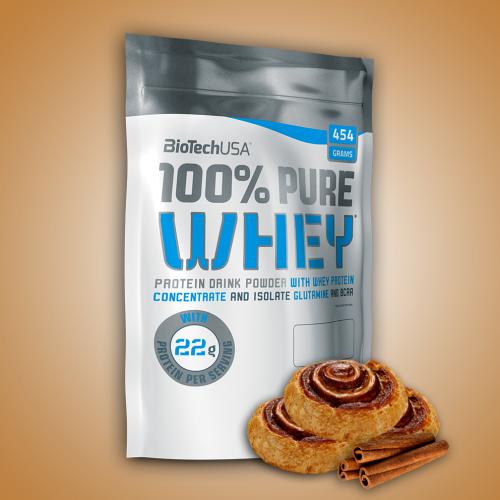 Biotech, 100% Pure Whey, 454 g, 16 ízben, Fahéjas tekercs ízek