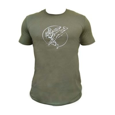T-shirt, Saman, Karate, cotton, military green