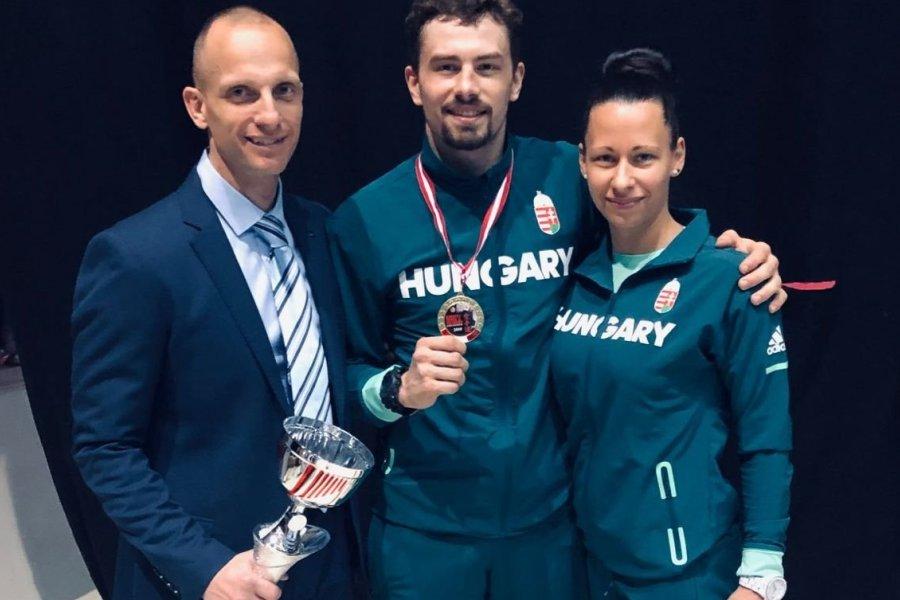 A karatés Hárspataki Gábor olimpiai kvalifikációs diadala