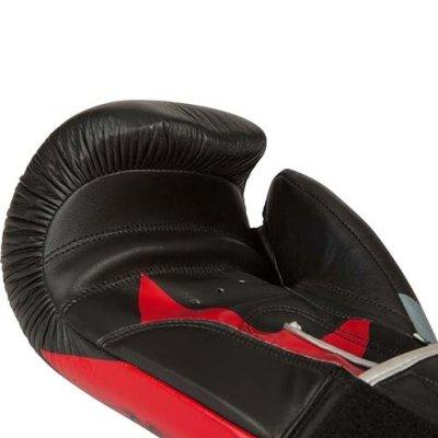 Boxkesztyű, Top Ten, Vikings, fekete/piros, bőr/műbőr, 14 oz méret