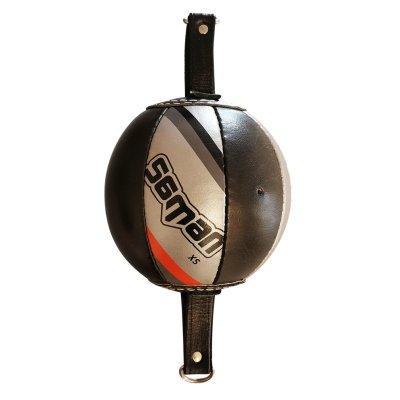 Feszített labda, Saman Sharp, bőr, fekete-ezüst, XS