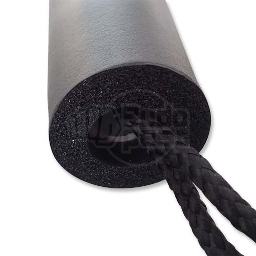Nunchaku, foam, with string, dragon printing, black