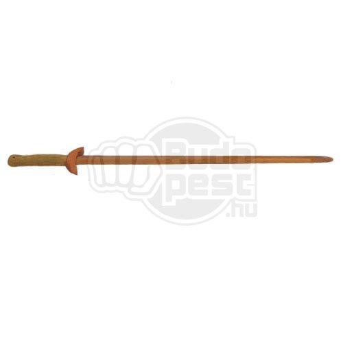 Tai-chi kard, gyakorló, fa, 97 cm, barna