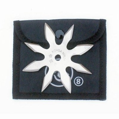 Shuriken, steel, 8 nibbed