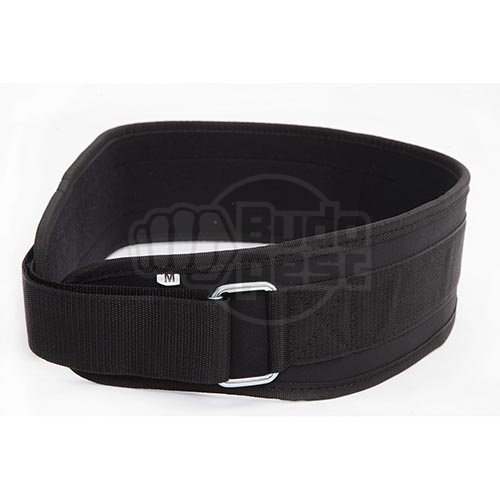 Weight-lifter belt, Saman, PVC, velcro, black, XL size