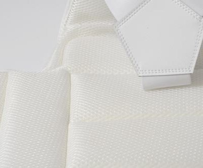 Karate chest guard, Saman, white, XL méret