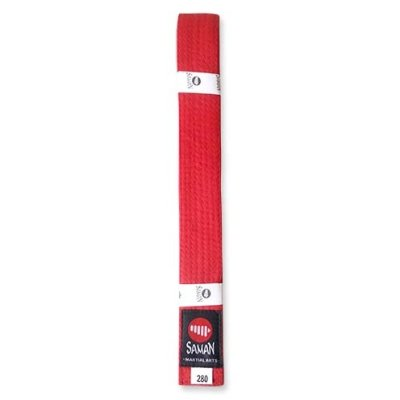 Belt, Saman, cotton, red, 340 size