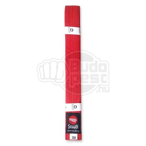 Belt, Saman, cotton, red, 200 size