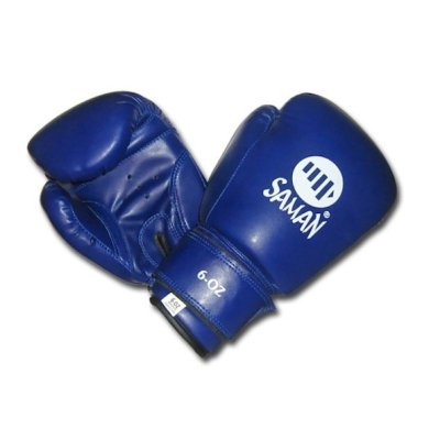 Boxing gloves, Saman, Kid Fit, for kids, DX-PU, blue
