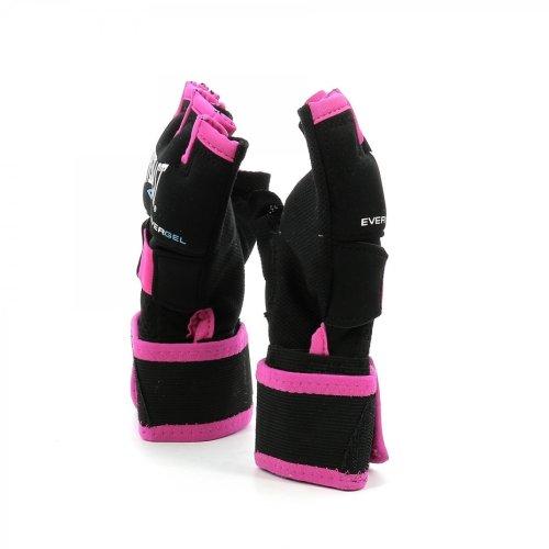 Bandázskesztyű Everlast Evergel, fekete/pink