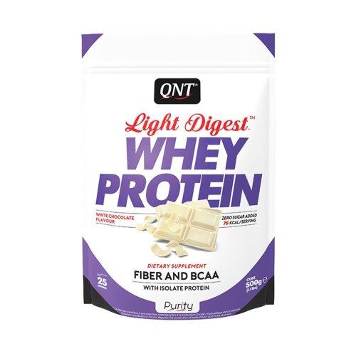 QNT, Light Digest, gluténmentes fehérje, 500 g, fehércsoki ízű