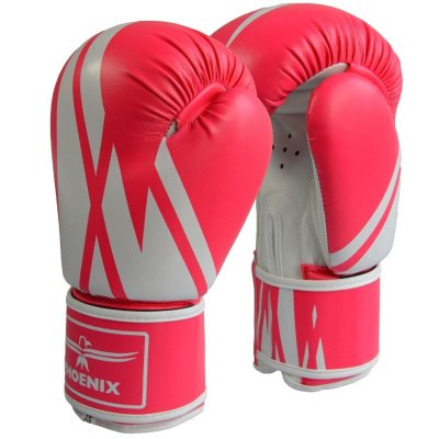 Boxing gloves, Phoenix, PU, pink-white