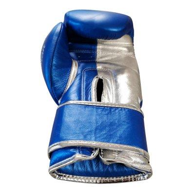 Boxkesztyű, Saman, Pro Sparring, kék-ezüst