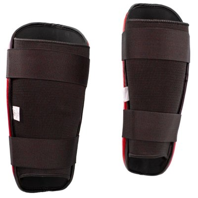 Lábszárvédő, Top Ten, WAKO Style, műbőr, Piros szín, XL méret