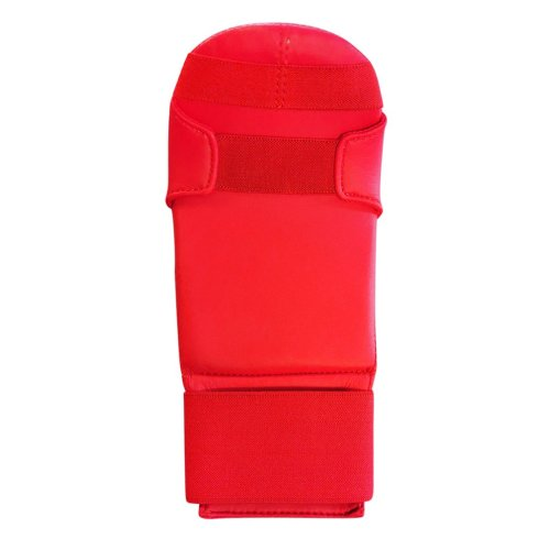 Karate mitt, Saman, Competition, karate, artificial leather, red