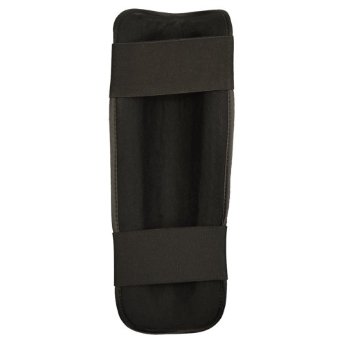 Shin guard, Phoenix, synthetic leather, black, XXL size