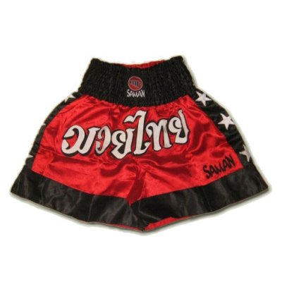 Thai-boxing shorts, Saman, poly, red