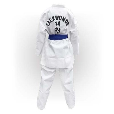 Taekwondo Uniform WTF, Saman, Basic, cotton/poly, white, 200 méret