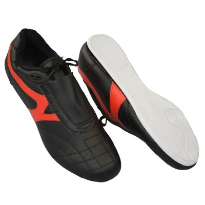 Martial arts shoes, Phoenix, black-red, 33 size