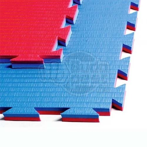 Karate Tatami, 1m*1m*2cm, Professional Double, red/blue