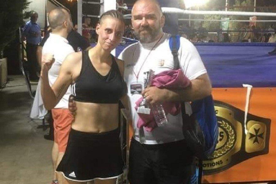 Megnyerte az első külföldi profibokszmeccsét a kick-bokszos lány