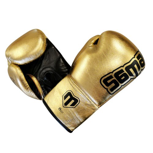 Boxing gloves, Felix Promotion, laced, golden