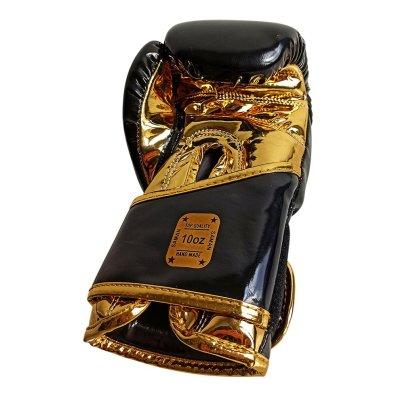 Boxkesztyű, Saman, Gleam KID, metál arany/fekete