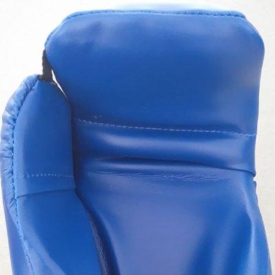Semi-contact gloves, Saman, blue, artificial leather, XL méret