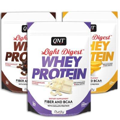QNT, Light Digest, Gluten-free Protein, 500 g, White Chocolate Flavour