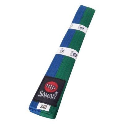 Öv, Saman, pamut, dupla, zöld/kék