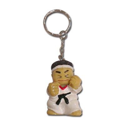Key ring, karate figure