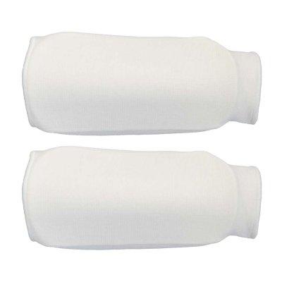 Forearm pads, cotton, white