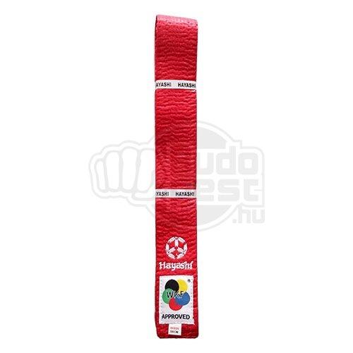 Karate öv, Hayashi, WKF, piros, 340 méret