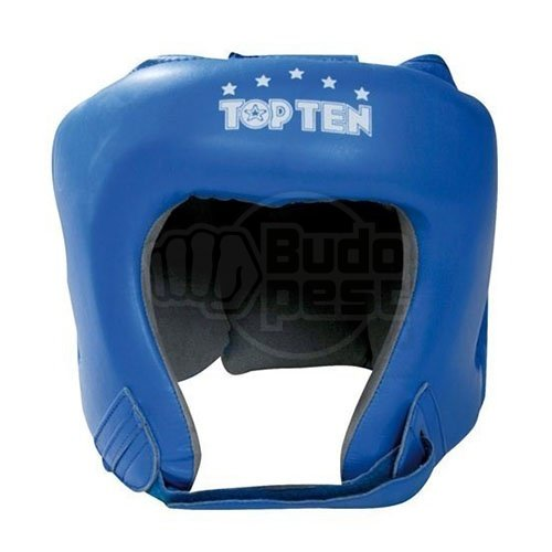 Boxe Headguard, TOP TEN, AIBA, blue, Kék szín, L size