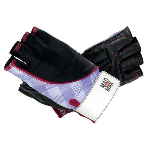 Fitness gloves, Mad Max, Nine-Eleven, for women, Kockás mintás szín, M size
