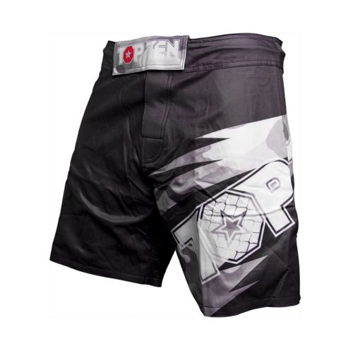 MMA Shorts, Top Ten, Scratched, black
