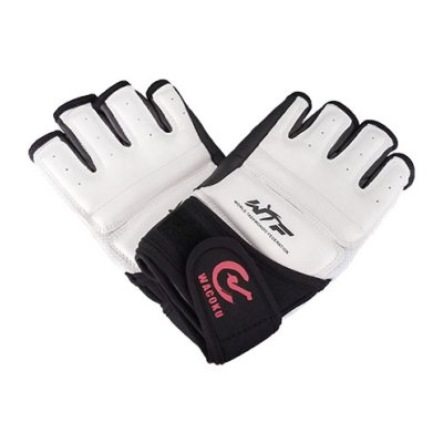 Taekwondo gloves, WTF, Wacoku, white/black, L size