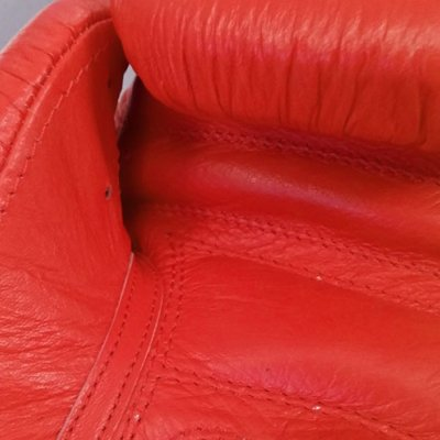 Boxing gloves, Saman, Competition, leather, red, 10 oz size
