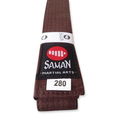 Belt, Saman, cotton, brown, 340 size