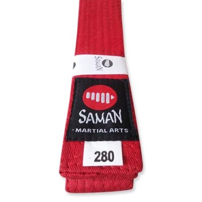 Belt, Saman, cotton, red, 220 size