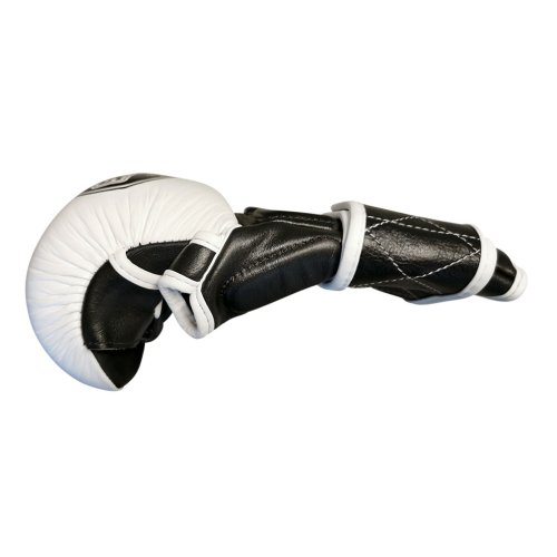 MMA kesztyű, Saman, Colours 1985, bőr, fekete-fehér